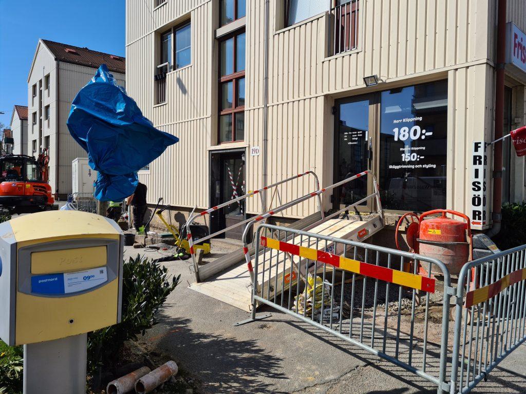 Dränering och ny trappa till lokal på 19D